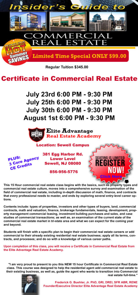 New Commercial Real Estate Course Now Enrolling
